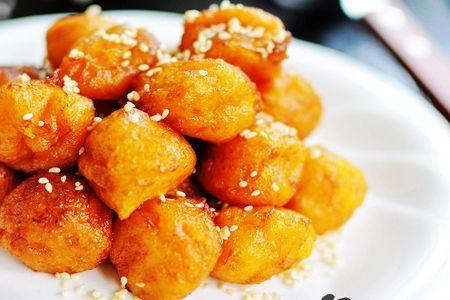 炸红薯丸子-三步简单早餐 创造健康一天
