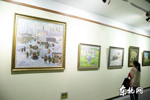 俄罗斯欧洲地区精品油画展在哈举行。东北网记者 孙晓锐 摄