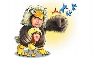 周董太保护昆凌,台湾媒体还画了漫画取笑他护女友心切