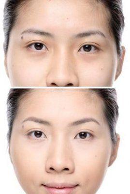 利用眉型调整脸部比例