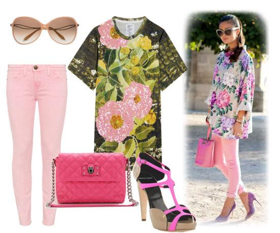 柔美的印花搭配粉色系服饰,这个夏天将甜美风进行到底