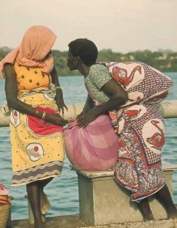 非洲的少女和男人