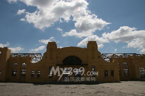 金满农业观光合作社内的老哈尔滨火车站景点