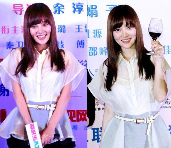 白色透视衬衫