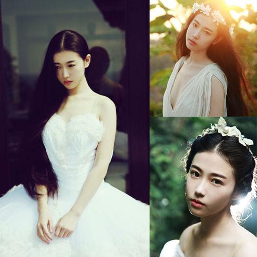 白色长裙装扮