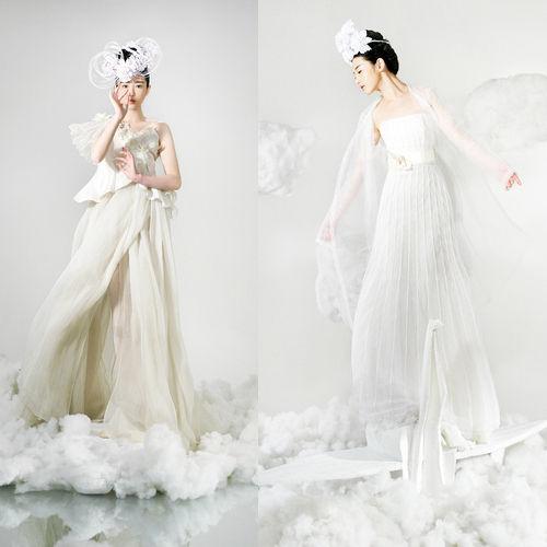 白色雪纺飘逸连衣裙装扮