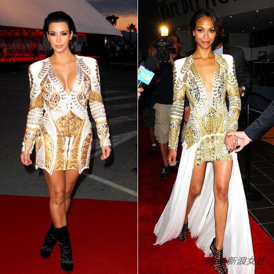 Kim Kardashian vs Zoe Saldana