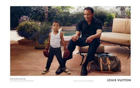 传奇拳王阿里担任路易威登最新广告代言人