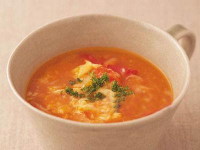 洋葱番茄蛋花汤