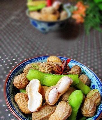 卤水花生毛豆