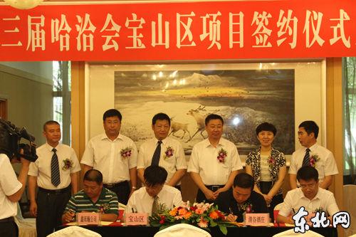 17日,双鸭山市宝山区哈洽会签约12.44亿元。东北网记者 高长利 摄