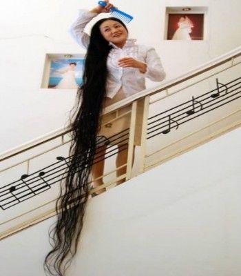 6.头发最长