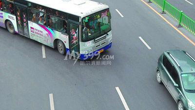 哈尔滨市民记录36辆公交车转向违章 详单高清图片