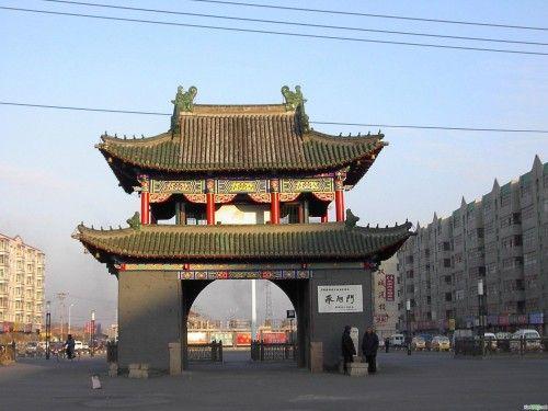 欧式拱形门楼图片