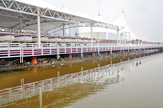 这座帆船码头占地面积3000多平方米
