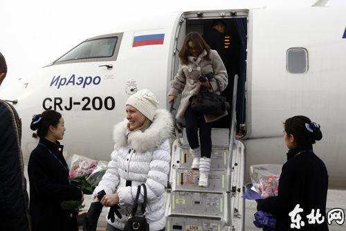 此航班顺利抵达哈尔滨
