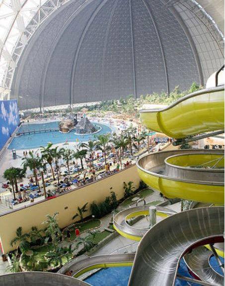 德国建世界上最大的人造室内热带度假村