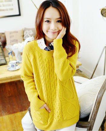 粗棒针毛衣 花样编织款式主导冬季温暖时尚