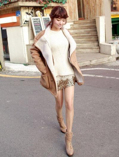 微胖女生冬季穿衣 大翻领外套最显瘦