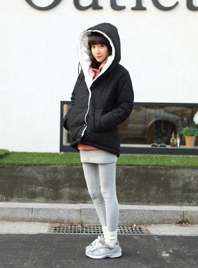 矮个子女生冬季搭配 棉衣巧穿高挑身材