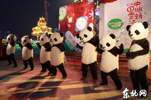 熊猫人热舞。
