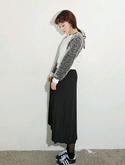 矮个子女生穿长裙 复古另类搭法(图)