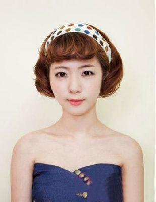 学韩国mm甜美发型 短发赛过长发