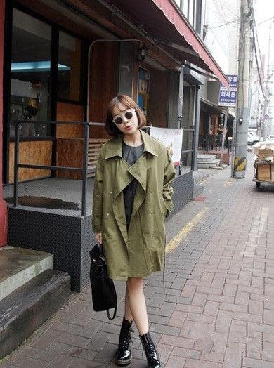 韩国街拍 街头萌妹的潮流混搭风