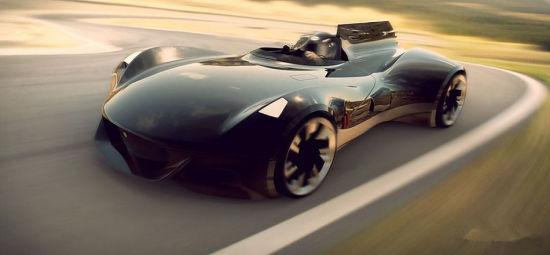 Griffin有些类似,但整体车身流线秉承了老款捷豹的经典车身设计,高清图片