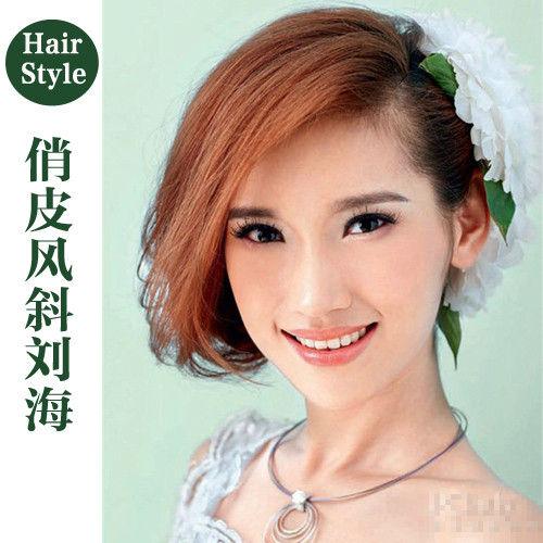 森女系新娘发型 变身绝美花仙子图片