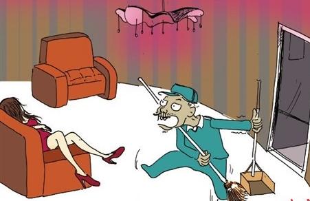 美女ktv醉酒后睡包厢 遭58岁老保安性侵