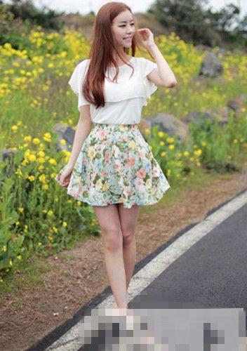 蓬松短裙设计图