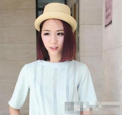 圆脸女生首选发型 时尚中分俏丽短发发型