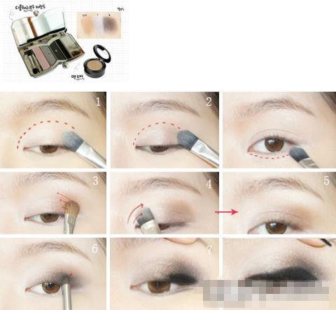 眼线膏画眼线的步骤示范图片