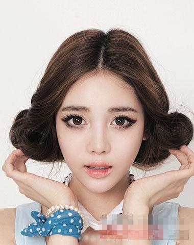 韩国无刘海学生发型扎法