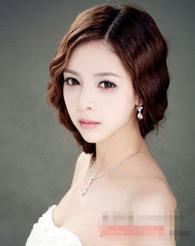韩国无刘海学生发型扎法图片