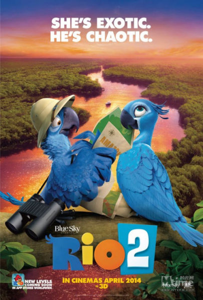 《里约大冒险2》角色海报双发大反派卷土重来