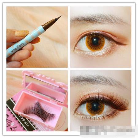 眼妆和眉毛的画法图解