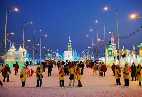 哈尔滨冰雪节。