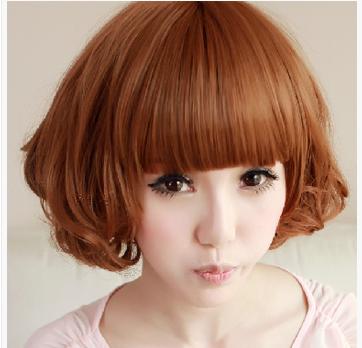 全新韩式风格的短发烫发发型    咖色短发比较嫩嫩的很显肤色,内卷的