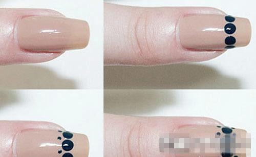 黑色指甲油与绿色指甲油怎么搭配