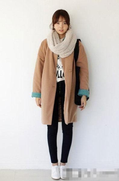 长短款大衣围巾保暖时髦