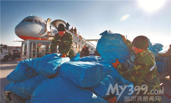 哈尔滨对俄罗斯货运专机:小包机包出大生意