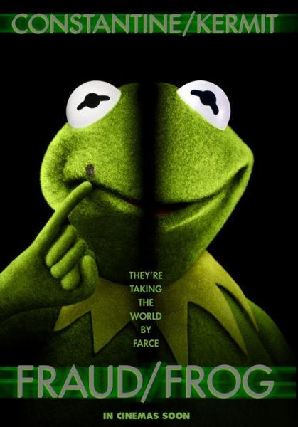 《布偶大电影2》曝国际版海报科米蛙变身007