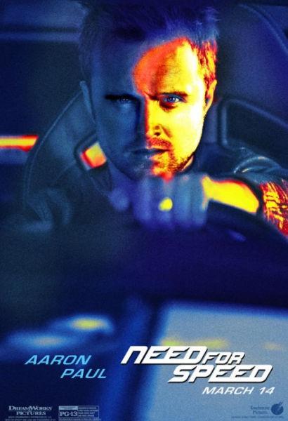 《极品飞车》首发角色海报亚伦率众主演亮相