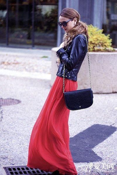 黑色皮衣夹克秀出美好身材 -早春扮酷皮衣受宠 帅气or性感谁更胜一筹