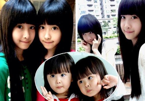 台湾超萌双胞胎长成13岁漂亮女孩