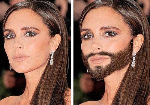 女神被P成胡子变装皇后