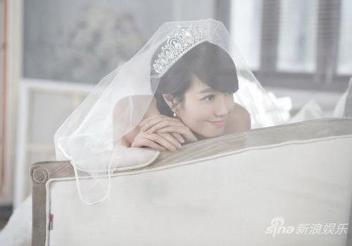 朱丹婚纱写真美艳恬静优雅分享幸福