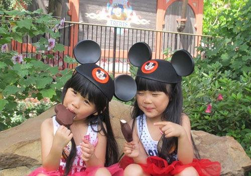 台湾萌娃双胞胎爆红成人肉景点